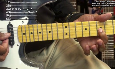 SOUL FINGER Bar-Kays Electric Funk Guitar Solo Lesson EricBlackmonGuitar