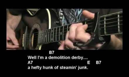 How to play Steamroller Blues by James Taylor Easy Guitar Lesson