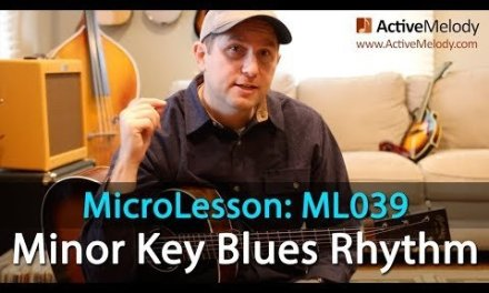 Easy Minor Key Blues Rhythm Guitar Lesson – Blues Guitar Lesson – ML039