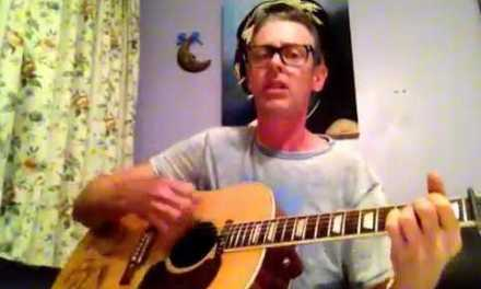 Johnny original tribute song written by Dene Rosewarn on Gibson John Lennon Peace J 160e
