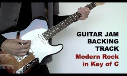 Guitar Jam Backing Track – Modern Rock in Key of C (88 bpm)