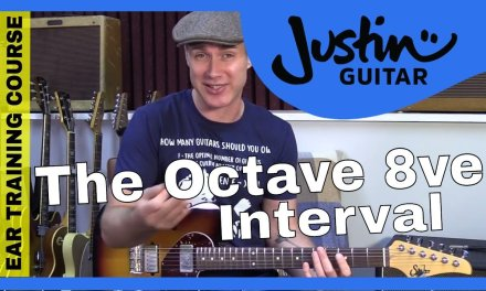 Ear Training Course 1.3: The Perfect 8ve Interval Hear Recognize Sing Play Guitar Lesson Tutorial