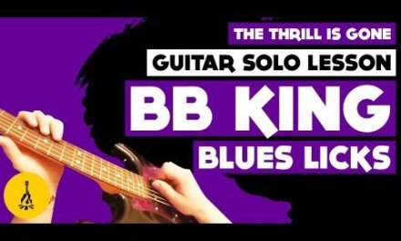 The Thrill Is Gone Guitar Solo Lesson | BB King Blues Licks