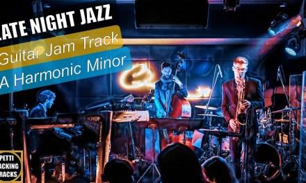 Late Night Jazz Guitar Backing Track Jam in A Harmonic Minor