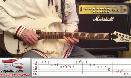 How To Play Parisienne Walkways by Gary Moore on Guitar (intro solo + TAB)