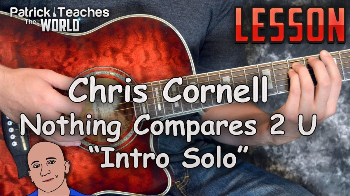 Chris Cornell Nothing Compares 2 U Intro Solo Guitar Lesson Tutorial
