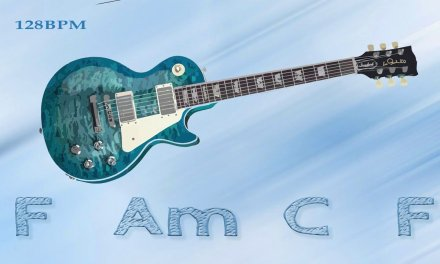 Atmospheric, Downtempo, Electronic Guitar Backing track in A minor