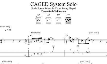 CAGED System Play-Along Solo (Funk Blues)
