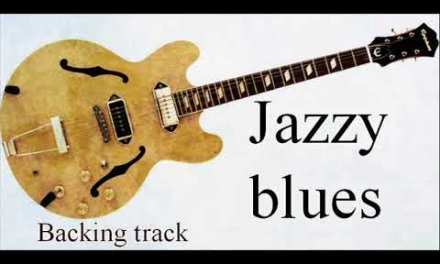 Jazzy blues in G backing track