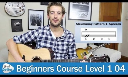 Beginners Strumming lesson 1 – The Beat (Beginner Guitar Course Level 1 lesson 4)