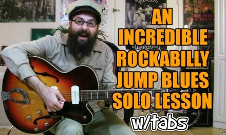 An Incredible Rockabilly/Jump Blues Solo Lesson w/tabs