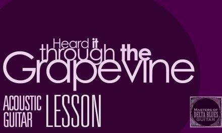 Guitar Lesson: Heard it Through the Grapevine (Blues Arrangement)