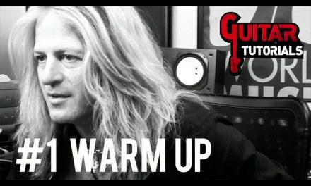 Doug Aldrich Guitar Lesson – #1 Warm Up – GuitarTutorials