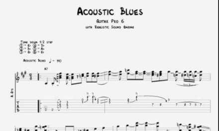 Intermediate Acoustic Blues (Guitar Tabs Tutorial)