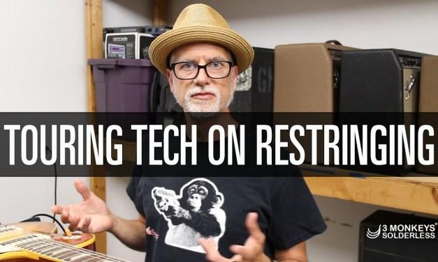 Greg Howard, Guitar Tech on Restringing Touring Guitars