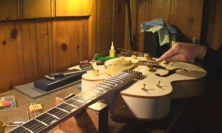 Gretsch White Falcon Guitar Setup Review and Demo