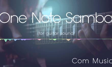 One Note Samba jazz backing track   for guitar