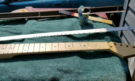 Make your own tools for guitar repair and set-up