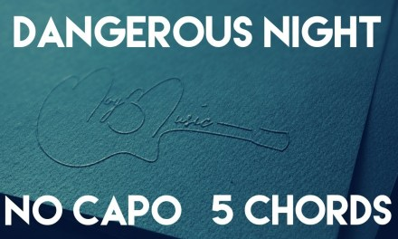 How To Play Dangerous Night by Thirty Seconds To Mars   No Capo (5 Chords) Guitar Lesson