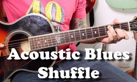 Big Bill Broonzy Style Blues Shuffle – Acoustic Blues Guitar Tutorial