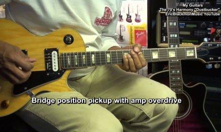 "MY GUITARS Harmony ""Dustbucker"" Les Paul Gibson Lawsuit Copy Guitar EricBlackmonGuitar HD"