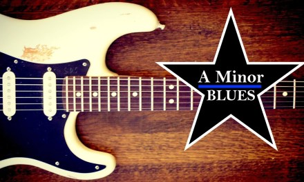 A Minor Blues Guitar Backing Jam Track