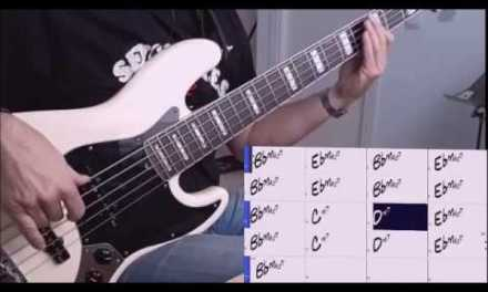 Chill Out in Bb Backing Track  – Recording the bass track