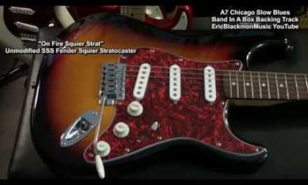 A7 12 Bar CHICAGO SLOW & EASY BLUES Backing Track EricBlackmonGuitar Band In A Box