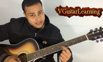 Major Scales all in one Position Guitar lesson- Super Easy Beginners Guitar tutorial VGuitarLearning