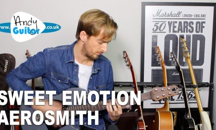 Sweet Emotion Guitar Tutorial – Aerosmith – Rock Guitar Lesson All Riffs
