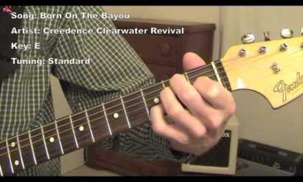 Born on The Bayou – guitar lesson