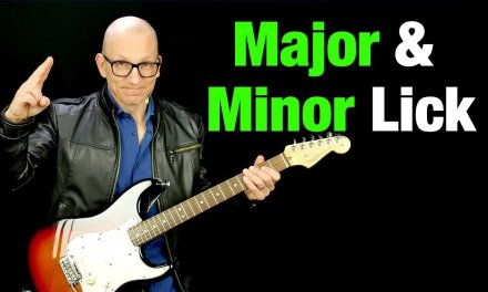 Major pentatonic blues lick with b3 – all over the fretboard