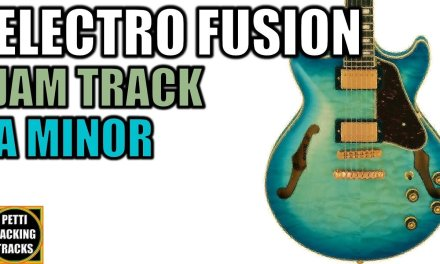 Electro Rock Fusion Guitar Backing Track Jam in A Minor
