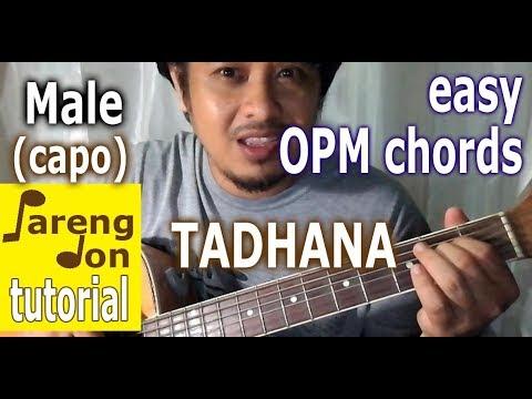 Tadhana Chords tutorial – Male version easy guitar lessons ni Pareng ...
