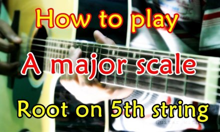 How to play A major scale root on 5th string || Guitar Beginner's lesson