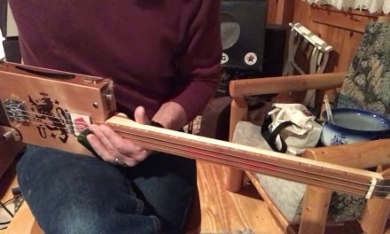 Shake 'Em on Down lesson for 3 string fretless Cigar Box Guitar