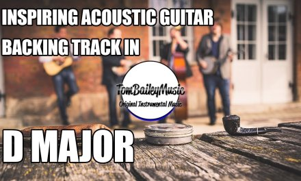 Inspiring Acoustic Guitar Backing Track In D Major | Forever Young