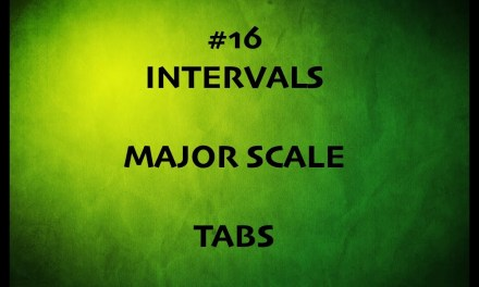 TAMIL GUITAR LESSONS-#16-INTERVALS & MAJOR SCALE WITH TABS