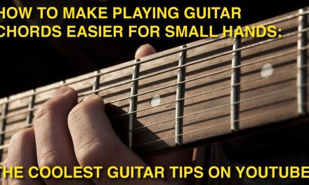 How to make playing GUITAR CHORDS easier for SMALL HANDS