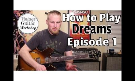 Dreams- Allman Brothers Guitar Lesson/ Rhythm and Solo Basics Part 1