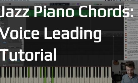 Jazz Piano Chords with Good Voice Leading