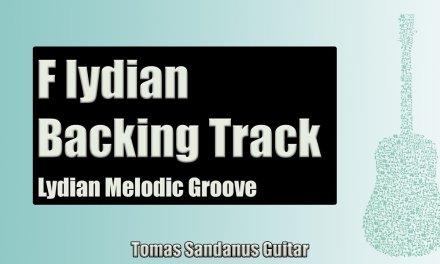 Guitar Backing Track in F lydian | Melodic Pop Rock Groove