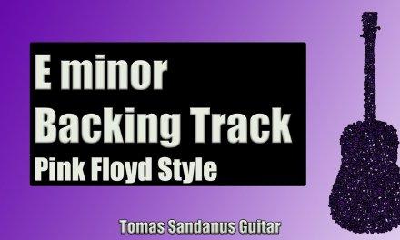 Guitar Backing Track Jam in E minor | Pink Floyd Style | Progressive Rock