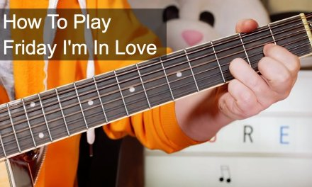 'Friday I'm In Love' The Cure Acoustic Guitar Lesson
