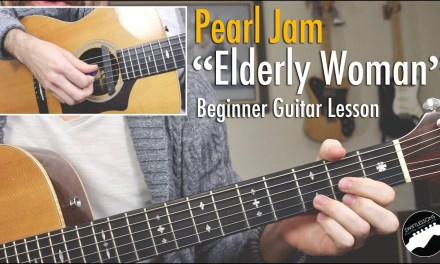 "Pearl Jam ""Elderly Woman Behind the Counter in a Small Town"" Beginner Guitar Lesson"