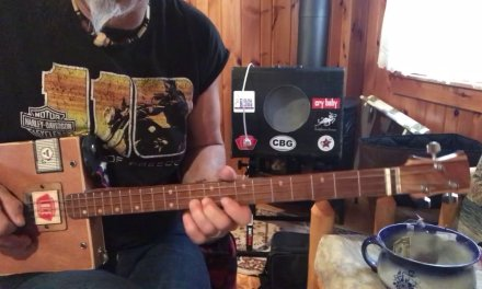 Boogie Woogie lesson 8A Slow Blues in C for 3 String Cigar Box Guitar