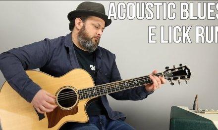 Acoustic Blues Guitar Lesson – Open Positon E Run and Licks