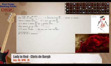 Lady In Red – Chris De Burgh Bass Backing Track with chords and lyrics