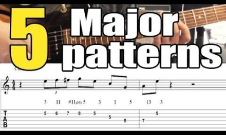 5 major jazz guitar patterns – Lesson with tabs