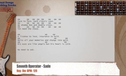 Smooth Operator – Sade Sax & Guitar Backing Track with chords and lyrics